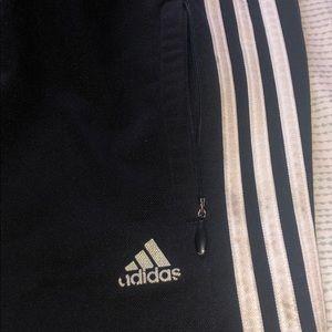 adidas Pants - Adidas Black Track Pants -  Zip Pockets - Men's XL